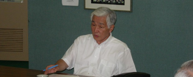 7月22日夕方、芋井地区住民自治協議会に鷲澤市長が訪問され、丸山会長ほか役員と芋井の住民自治について意見交換されました。