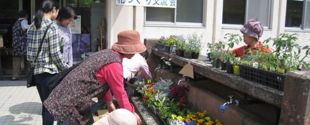 5月16日(土)、芋井農村環境改善センター玄関前で、『花づくり交流会』が開催されました。  当日は前夜からの激しい雨がカラリとあがり気持ちのいい花づくり日和になりました。 そして、会場には開始前から参加者集ま...