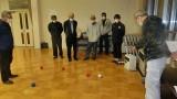 11月19日(木) ボッチャ講習会を開催しました。  地域公民館との共催で、パラリンピック種目でもおなじみのボッチャを体験しました。 ボッチャとは、イタリア語で「ボール」という意味です。