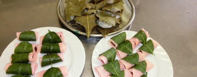 令和3年6月22日(火) 桜餅とかしわ餅作り講座を開催しました。